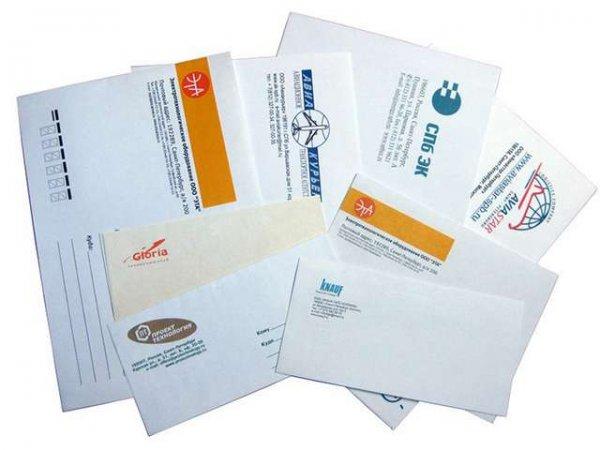 Печать логотипа на конвертах